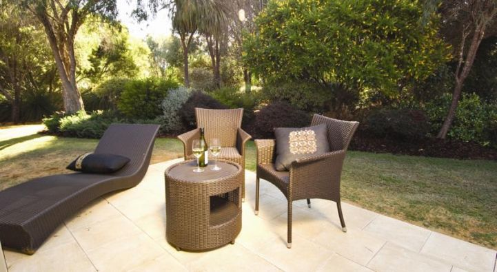 Outdoor seating at