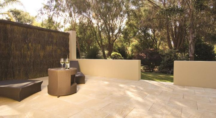 Private courtyard at